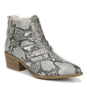 FERGALICIOUS Malaki Snakeskin Print Heel Boot 8.5